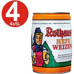 BIÈRE 4x Rothaus Hefeweizen 5L Keg 5,4% vol