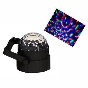 BOULE A FACETTES SPHERE MULTICOLORE 360° 3 LEDS 1W
