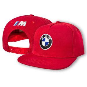 CASQUETTE BMW M Power Casquette de Baseball Snapback Rouge B