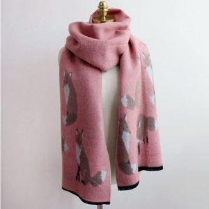 Foulards - écharpe - Femmes hiver faux cachemire renardmode chaud ... f6395bf5f62