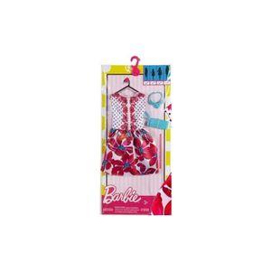 ACCESSOIRE POUPÉE Barbie - Robe De Soiree A Fleurs Avec Sac A Main B