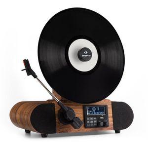 PLATINE VINYLE auna Verticalo DAB Platine vinyle rétro tuner numé