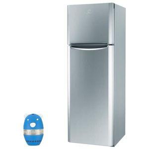 RÉFRIGÉRATEUR CLASSIQUE INDESIT Réfrigérateur frigo double porte inox 305L
