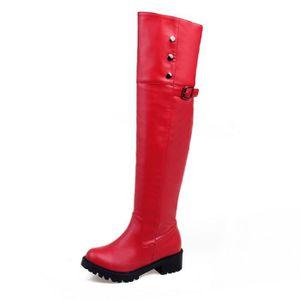 BOTTE Bottes hautes Femme, jambes épaisses bottes à t...