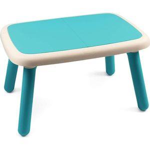 BUREAU BÉBÉ - ENFANT SMOBY - Kid Table Intérieure / Extérieure Bleue