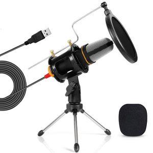 MICROPHONE - ACCESSOIRE Tonor Microphone USB Micro PC avec Support de Trép