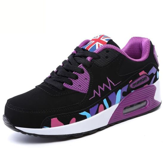 Mode Femme Sportif Respirant Chaussures - Casual ...  Violet - Chaussures Achat / Vente basket 2533f7