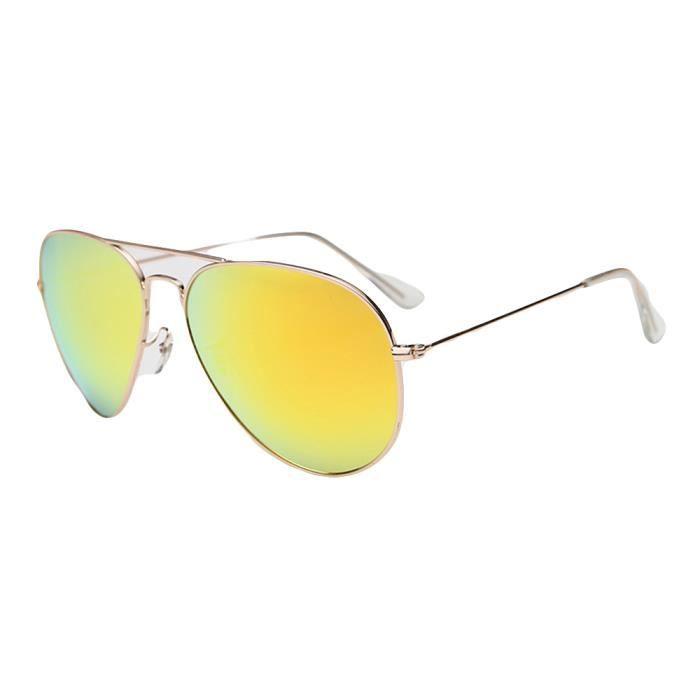 Homme Femme Métal Cadre Sunglassesmoderne Lunettes Jaune De Mixte dYRZqn8v8w