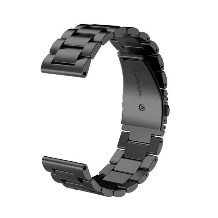 Fenix X Garmin Bracelet Noir Inox Gps Montre 5 Acier En De Pour IYygb67fv