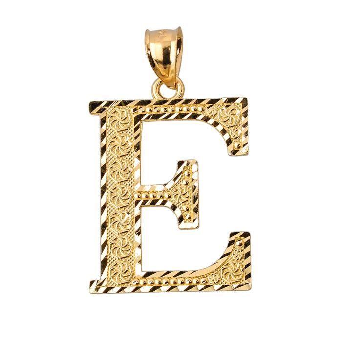 Collier Pendentif10 ct 471/1000 initiale E or Collier Pendentif(vient avec une Chaîne de 45 cm)