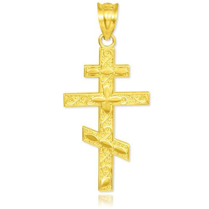 Collier Pendentif14 ct 585/1000 OrOr thodoxe russe Croix