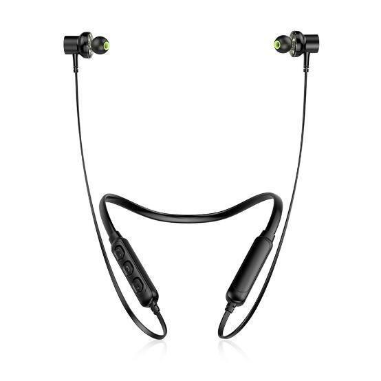 Awei Sans Fil Écouteurs De Deux Pilotes Bluetooth Casque Tour Cou Sport Soutien Mains Libres Appel