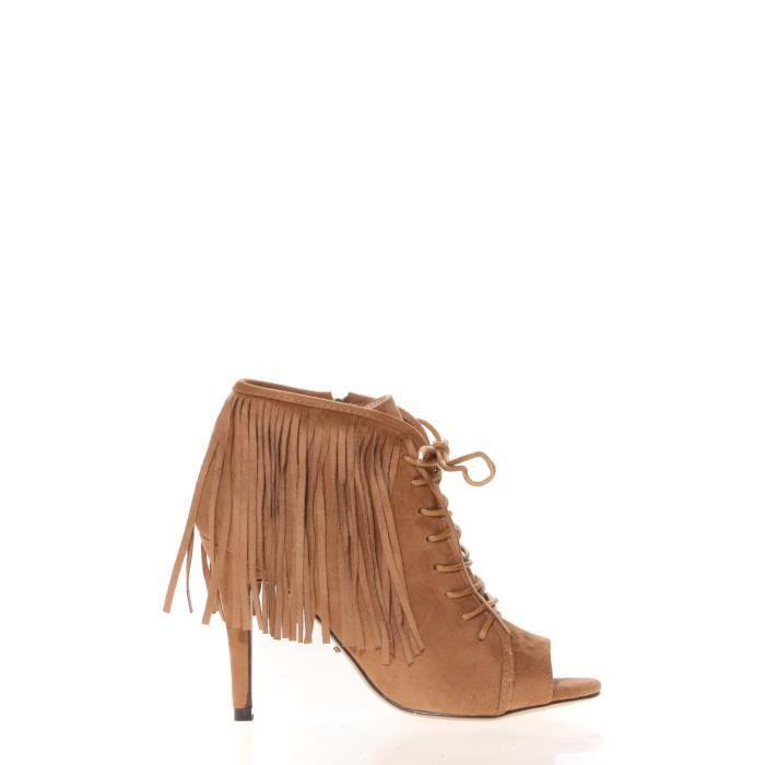 Cassis Côte D'azur Cassis Côte d' azur Bottine Majorelle Camel Marron - Chaussures Sandale Femme