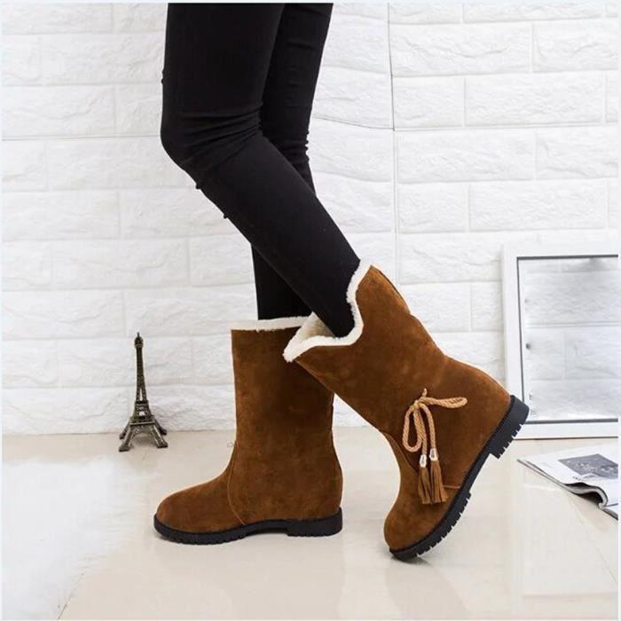 D'hiver Femme D Bottines De Neige Talons Bottes Chaussures dQCoWxrBe