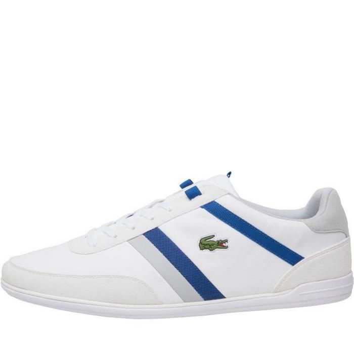 Homme Lacoste Gn En Blanches Baskets Cuir WH2ED9I