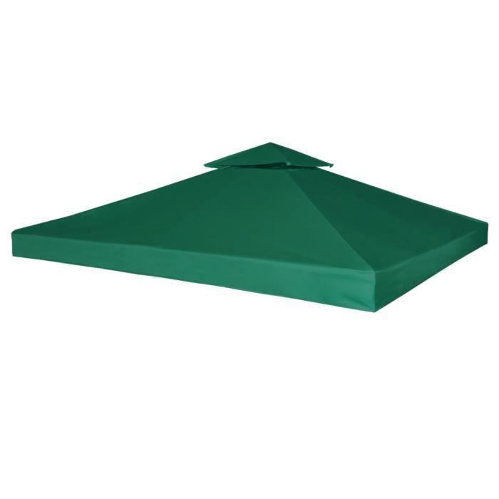 3 x 3 m Toile couverture de Rechange Vert pour Gazébo Pergola de ...