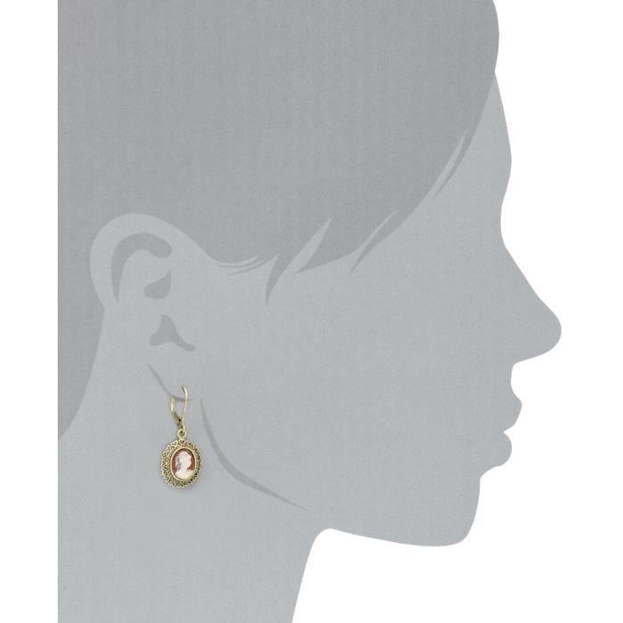 1928 Jewelry Vintage-inspired Escapade Carnelian Drop Earrings O6C44