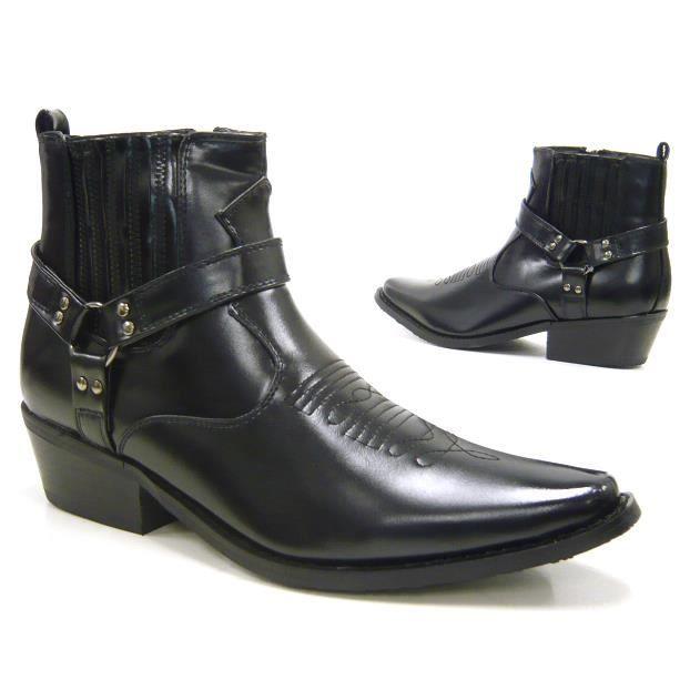 BIKY Hommes chaussures bottillon Cowboy bottes noir 46
