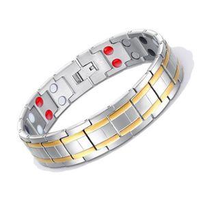e5eeac6c26a BRACELET - GOURMETTE Bijoux Bracelet homme Magnétique Acier au titane D