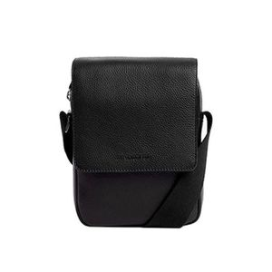 f984bfb1db BESACE - SAC REPORTER Besace Homme Le Tanneur Bruno TBN2502 - Noir