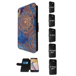 COQUE - BUMPER SM-A720F Samsung Galaxy A7 (2017) Purse Wallet Pou