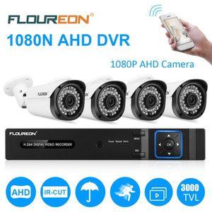 CAMÉRA DE SURVEILLANCE Caméra de Surveillance FLOUREON Kit de 1x 8CH 1080