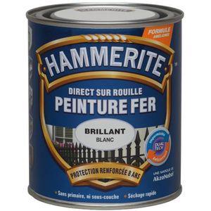 PEINTURE - VERNIS Peinture  noire brillant 0,75l - HAMMERITE -