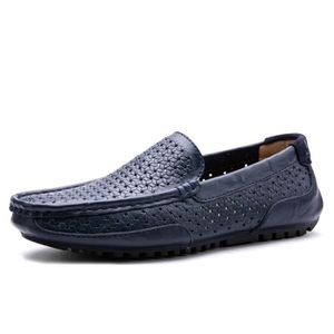 Mocassin Hommes Cuir Loafer Detente Casual Chaussure DTG-XZ089Marron38 ueJ9p