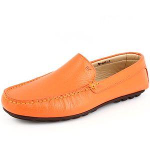Mocassin Hommes Cuir Loafer Detente Classique Chaussure XFP-XZ089Orange38 krCzQjE