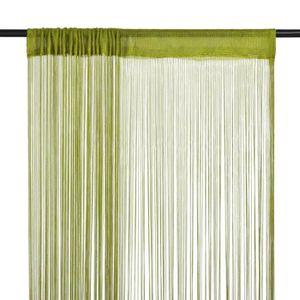 RIDEAU Rideau en fils 2 pcs 100 x 250 cm Vert
