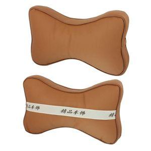 APPUI-TÊTE Pair Camion Brun surface en cuir artificiel massag