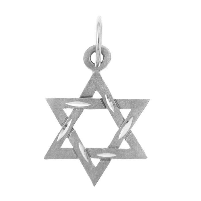 Collier Pendentif Charm Collier Pendentif JuiveArgent 925/1000 Diamants Star Collier Pendentif David(vient avec une Chaîne de 4...