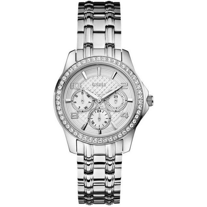 c9aee141cda4 GUESS Montre W0403L1 Femme Argenté, Chic - Achat vente montre ...