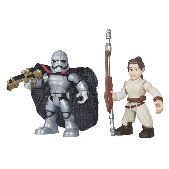 FIGURINE - PERSONNAGE Disney Galactic Heroes Star Wars Rey Jakku et Capt