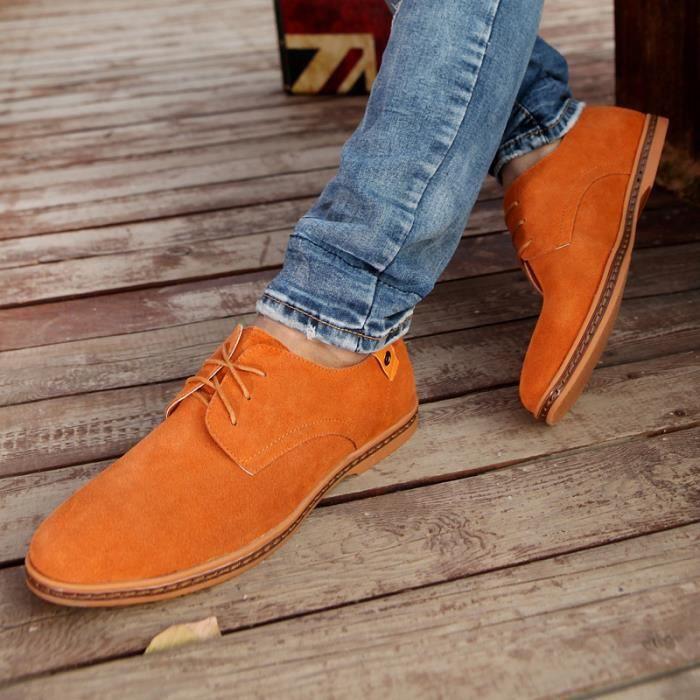 Hommes marron Chaussures Chaus gris Vert Daim noir Pour bleu En orange khaki 5g88fq