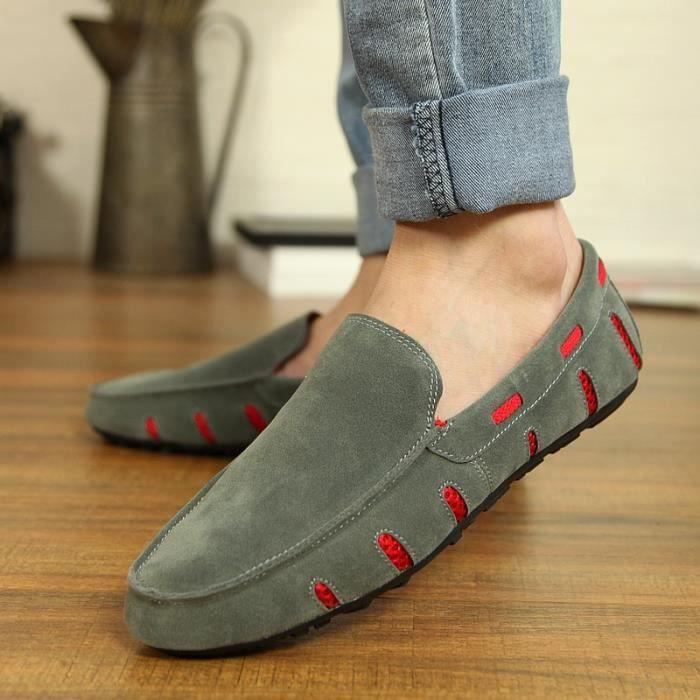 mocassi véritable Mode cuir Flats Hommes Casual wCAvx7q