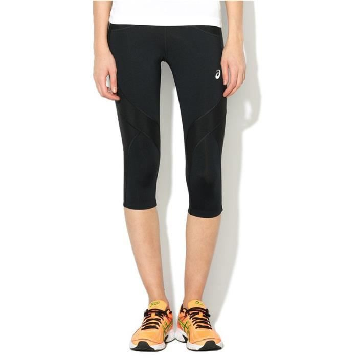 wholesale dealer b9801 801e3 Pantacourt Legging Noir Balance Knee Tight Running Femme Asics
