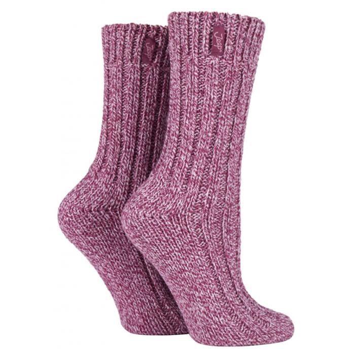 a60f2459b31 Jeep - 3 paires femme chaudes laine chaussettes randonnée pour marcher