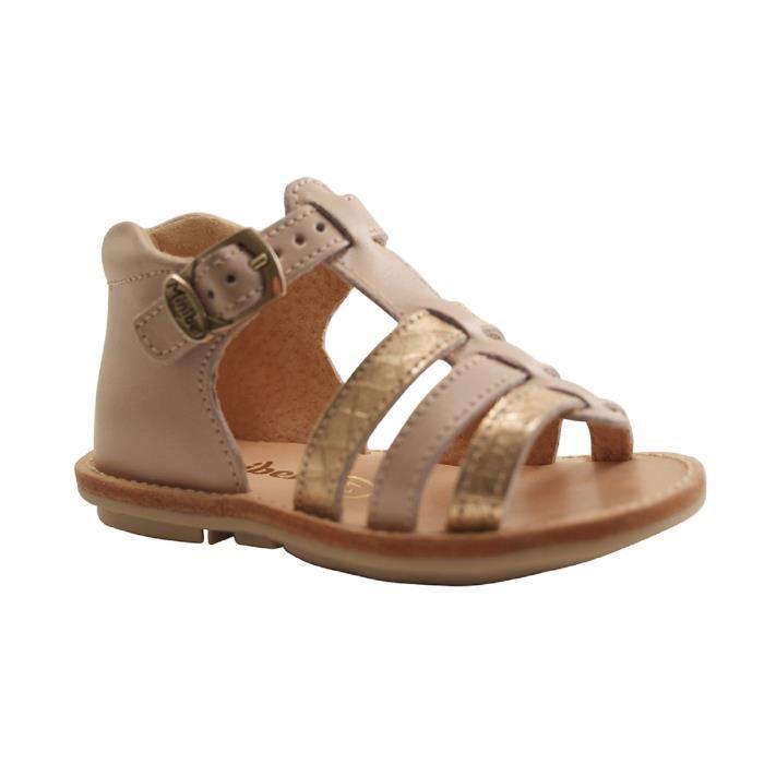 e435574624 BABIES MINIBEL-KEGLAE-KNEIP DEMI FERME-ROSE. Chaussures pour enfants de ...