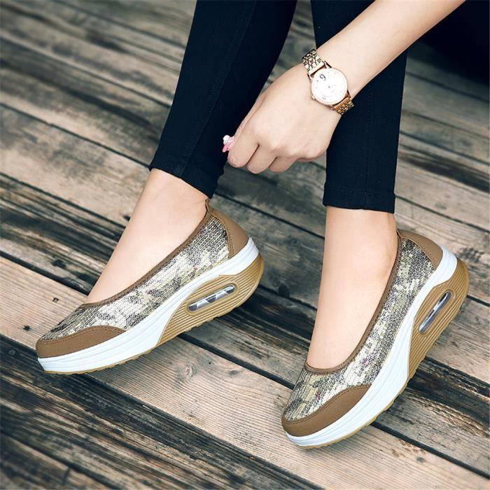 Durable Qualité Sneakers Femme Respirant Chaussures Supérieure Sandale Nouvelle Slip Arrivee Confortable on Été hQsrxdCtBo
