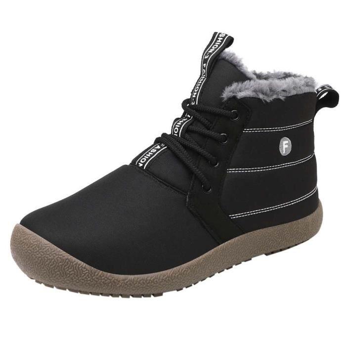 hiver bottillons cheville Hommes chaudesyunsoel836 Femmes neige Bottes à Bottes l'eau Chaussures Résistant de y7vYIgm6bf