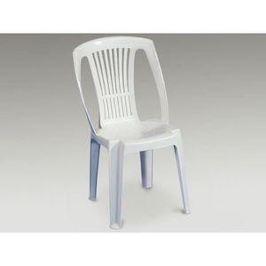 FAUTEUIL JARDIN Lot 36 Chaises Jardin Plastique Blanc Empilables C