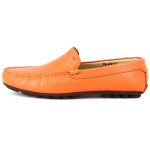 Mocassins Hommes Cuir Ultra Comfortable Appartements Chaussures LKG-XZ071Orange40 19ULy0pEWy