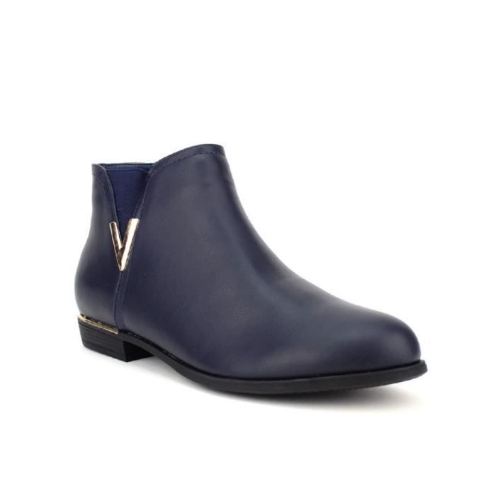 bottine - boots, Bottines Bleu Chaussures Femme, Cendriyon