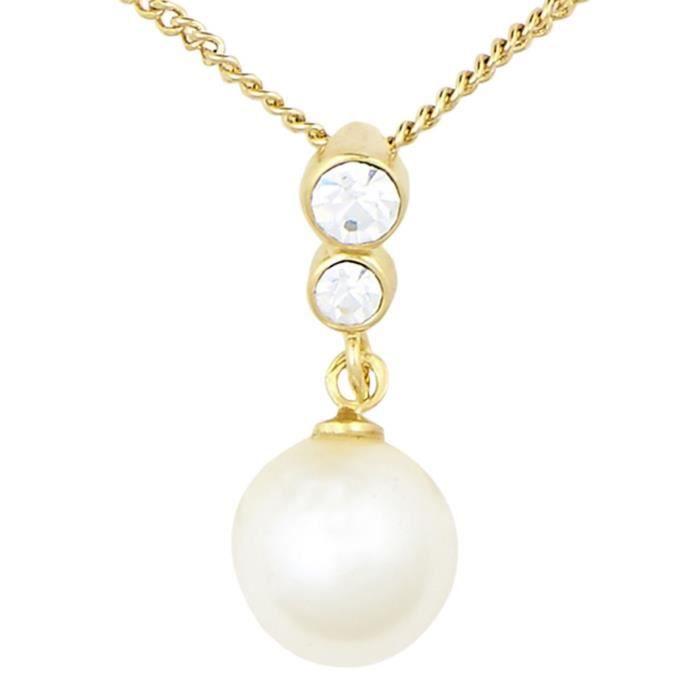 Collier de perles dor des femmes Set (sj_2056) CWG5Q
