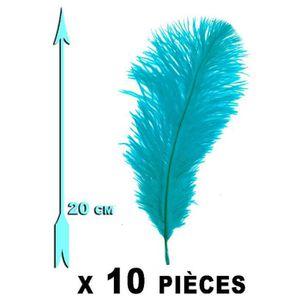 Plume de déco 10 Plumes bleues turquoises 20 cm extra-large U Mu 8a4ecf3318d