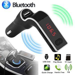 Récepteur audio Transmetteur FM de voiture Bluetooth mains libres