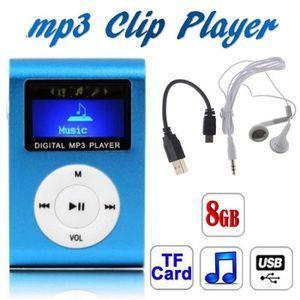LECTEUR MP3 Lecteur MP3 Ecran LCD BLEU avec Carte 8 Gb/Go - Ko