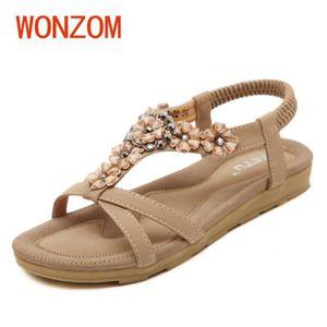 WONZOM® Femme Chaussures Sandales Comfort Sandals Tongs d'été Sandales plates gladiateur sandales plates de haute qualité de mode tdtc0oTqro