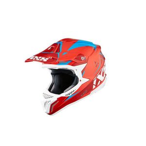 CASQUE MOTO SCOOTER Casque moto cross HX 179 FLASH rouge-bleu Taille S